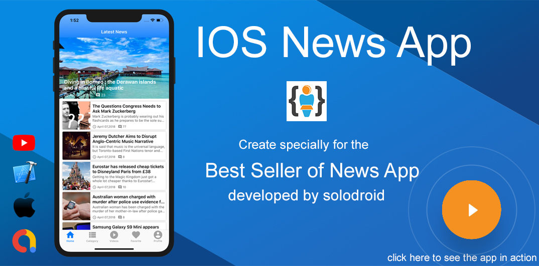 IOS News App - GaJo Developper